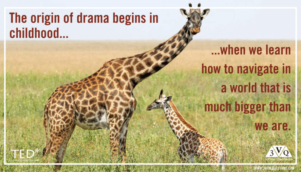 The origin of drama begins in childhood when we learn how to navigate in a world that is much bigger than we are.